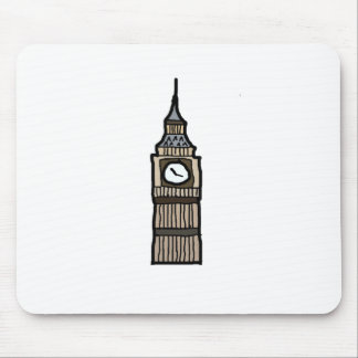 Tower of London Big Ben Cartoon Illustration Mouse Pad
