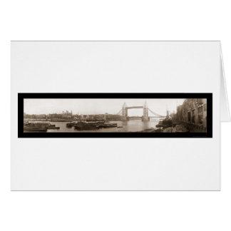 Tower of London Bridge Photo 1909 Card
