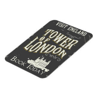 Tower of london England vintage poster Magnet