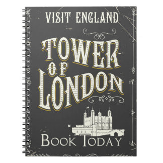 Tower of london England vintage poster Notebook
