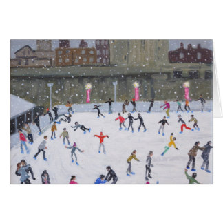 Tower of London Ice Rink 2015 Greeting Card