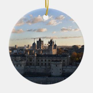 Tower of London Round Ceramic Decoration