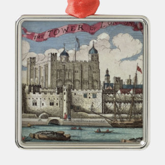 Tower of London Seen from the River Thames Christmas Ornament