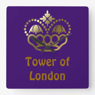 Tower of London Square Wall Clock