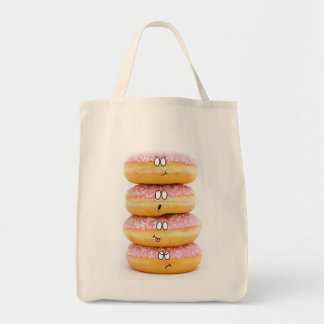 tower of pink doughnut characters bag