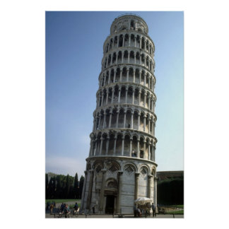 """""""Tower of Pisa, Italy"""" large poster"""