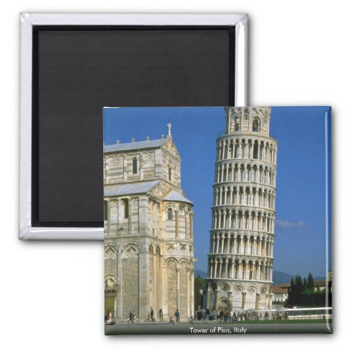 Tower of Pisa, Italy Magnets