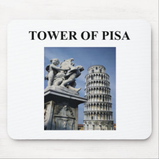 tower of pisa italy mouse pad