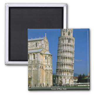 Tower of Pisa, Italy Square Magnet