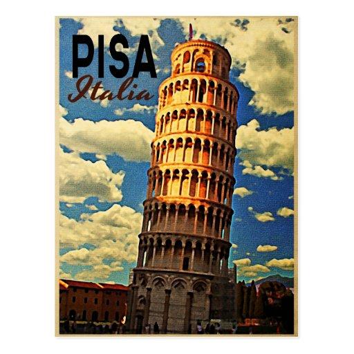 Tower Of Pisa ltaly Post Card