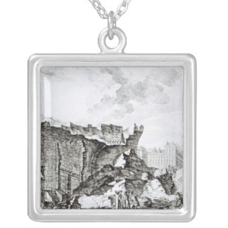 Tower of San Roque, Lisbon Silver Plated Necklace