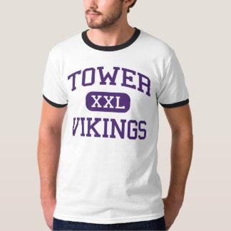 Tower - Vikings - High School - Warren Michigan T-Shirt