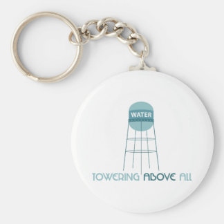 Towering Above All Basic Round Button Key Ring