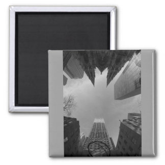 Towering Heights Square Magnet