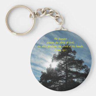 Towering Pines Basic Round Button Key Ring