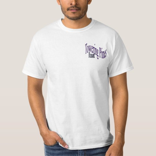 Towering Pines Resort with GPS & Earth on Back T-Shirt