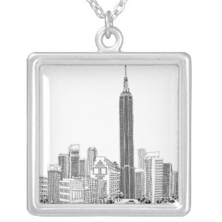 Towering Tower Silver Plated Necklace