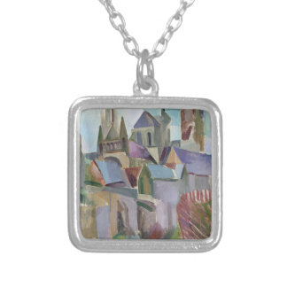Towers of Laon, 1912 Silver Plated Necklace