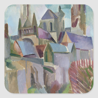 Towers of Laon, 1912 Square Sticker