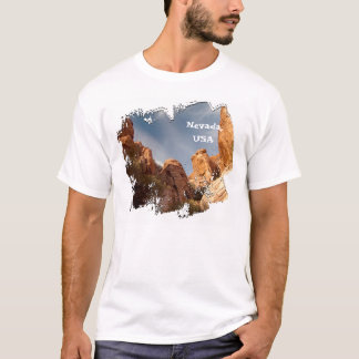 Towers of Red Rock; Nevada Souvenir T-Shirt