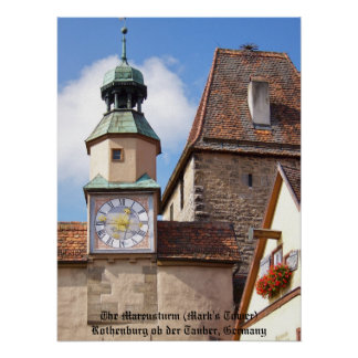 Towers of Rothenburg Poster