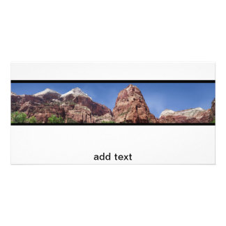 Towers of the Virgin Panoramic Photo Greeting Card