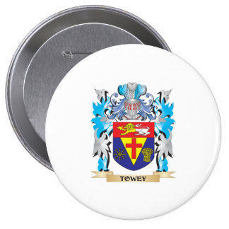 Towey Coat of Arms - Family Crest 10 Cm Round Badge