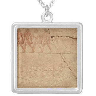 Towing a boat, from the Mastaba of Mereruka Silver Plated Necklace