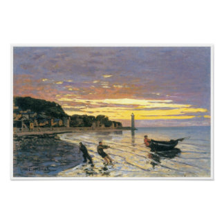 Towing a boat, Honfleur, 1864, Claude Monet Poster