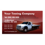 Towing Company white truck design Pack Of Standard Business Cards