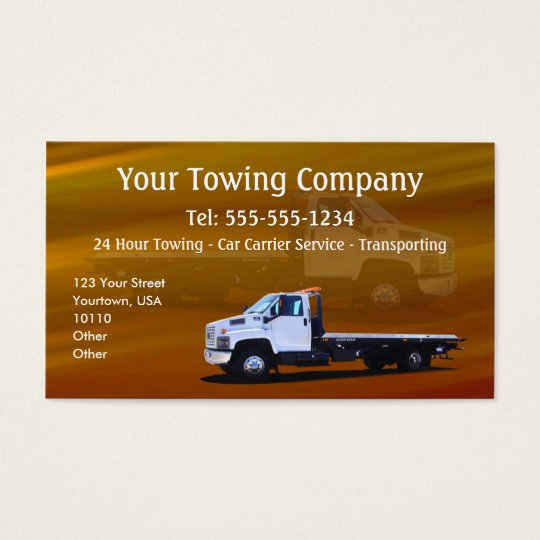 Towing CUSTOMIZABLE Business Card
