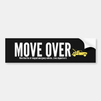 Towing Move Over Bumper Sticker