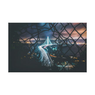 Town and a Fence Canvas Print