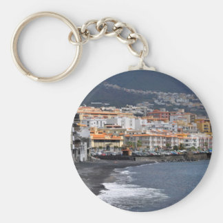 Town and beach of Candelaria at Tenerife Key Ring