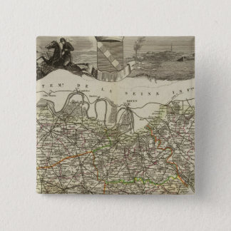 Town and Cities 15 Cm Square Badge
