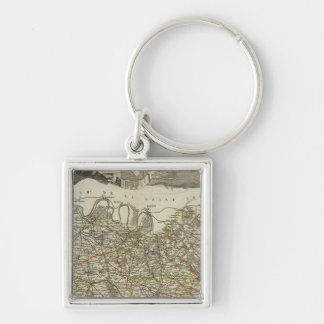 Town and Cities Key Ring
