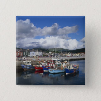 Town and Harbour, Dingle, County Kerry, 15 Cm Square Badge