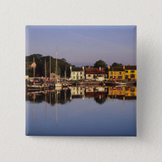 Town and harbour, Kinvarra, County Galway, 15 Cm Square Badge