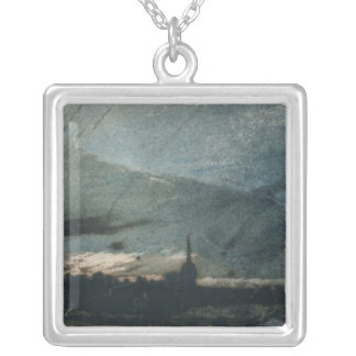 Town at Dusk Silver Plated Necklace