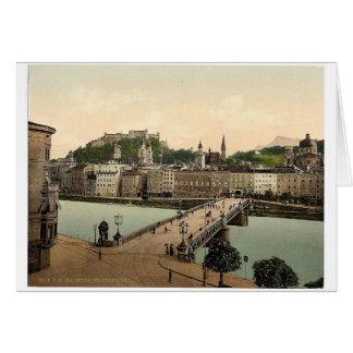 Town bridge, Salzburg, Austro-Hungary rare Photoch Card
