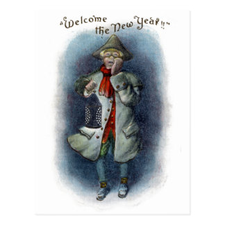 Town Crier Welcomes the New Year Postcard
