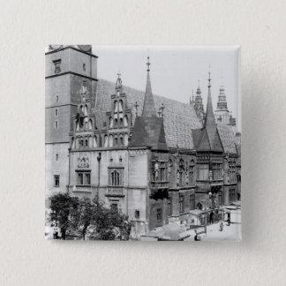 Town Hall, Breslau  Poland, c.1910 15 Cm Square Badge