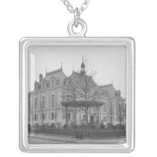 Town Hall, c.1886-90 Silver Plated Necklace