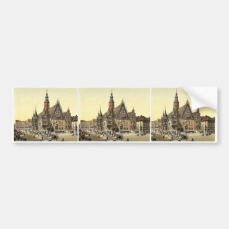 Town hall from the east, Breslau, Silesia, Germany Bumper Sticker