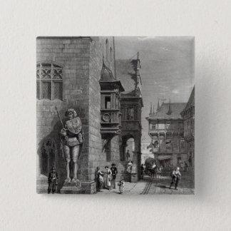 Town Hall, Halberstadt 15 Cm Square Badge