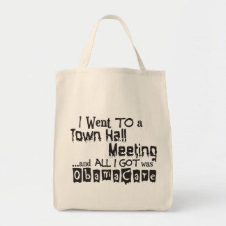 Town Hall Meeting ObamaCare Tote Bag