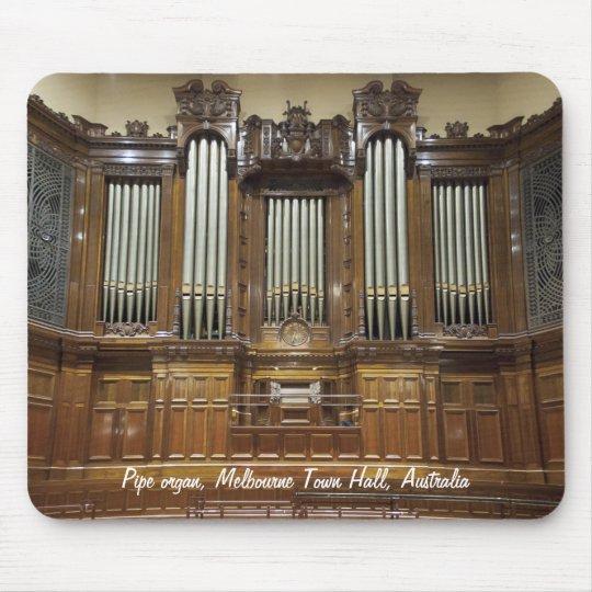 Town Hall, Melbourne Australia pipe organ mousepad