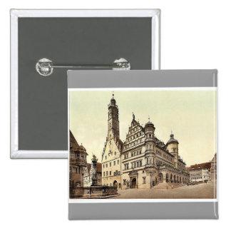 Town Hall, Rothenburg (i.e. ob der Tauber), Bavari Pinback Buttons