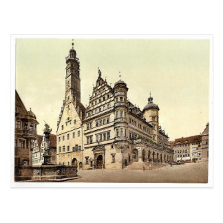 Town Hall, Rothenburg (i.e. ob der Tauber), Bavari Postcard