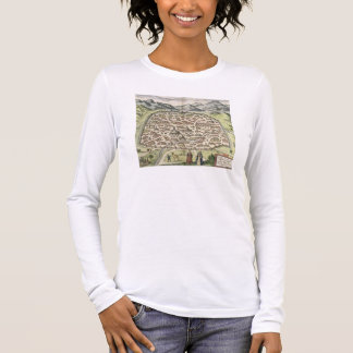 Town map of Damascus, Syria, 1620 (engraving) Long Sleeve T-Shirt